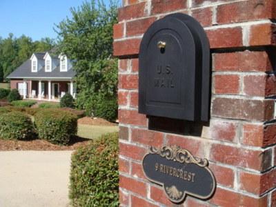 11 Quot Brick Column Mailbox Door Replacement Brick Mailbox