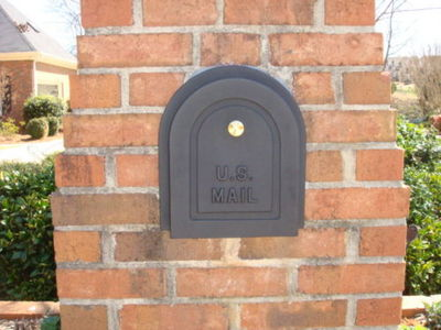 6 Quot Brick Column Mailbox Door Replacement Brick Mailbox Doors