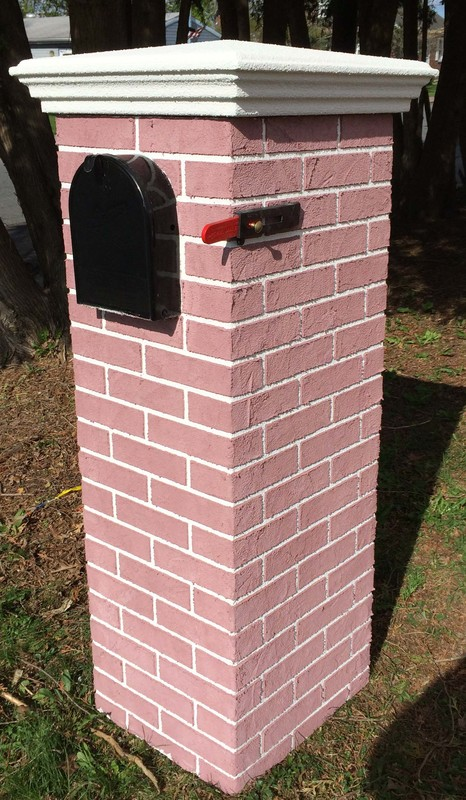 Residential Stone Columns : The piedmont brick column mailbox faux