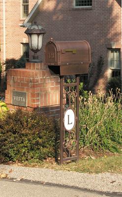 All Special Lite Monogram Mailbox Post Smp 550 Special