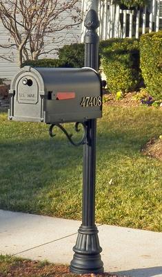 Buy The St John Aluminum Mailbox Post With Savannah