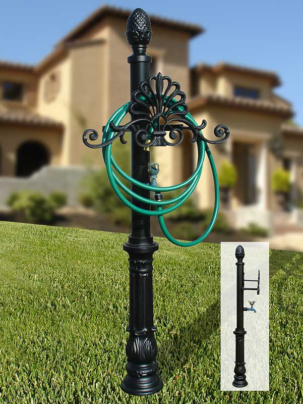 Decorative Garden Hose Holder Storage Decor