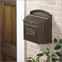Whitehall Wall Mount Mailbox Bronze With Address Plaque