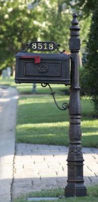 Decorative Cast Aluminum Bb R Barcelona Complete Mailbox