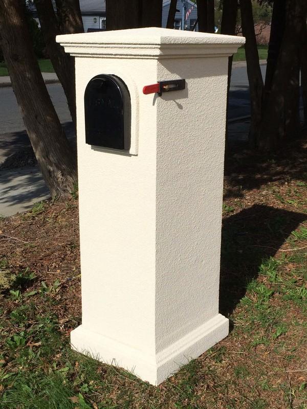The Gatewood Column Mailbox System Faux Stone Column
