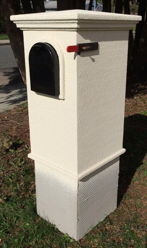 Gatewood Column Mailbox Faux Stone Column Mailbox