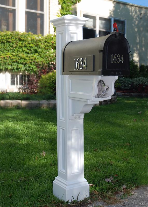 All mayne charleston mailbox pkg 5848 scb1015dx mayne charleston mailbox post 5848 - Unique mailbox ideas for your home ...