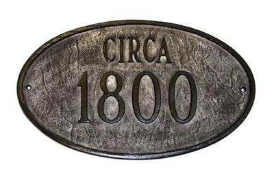 Montague Metal Historical Oval Plaque Pcs 31 Montague