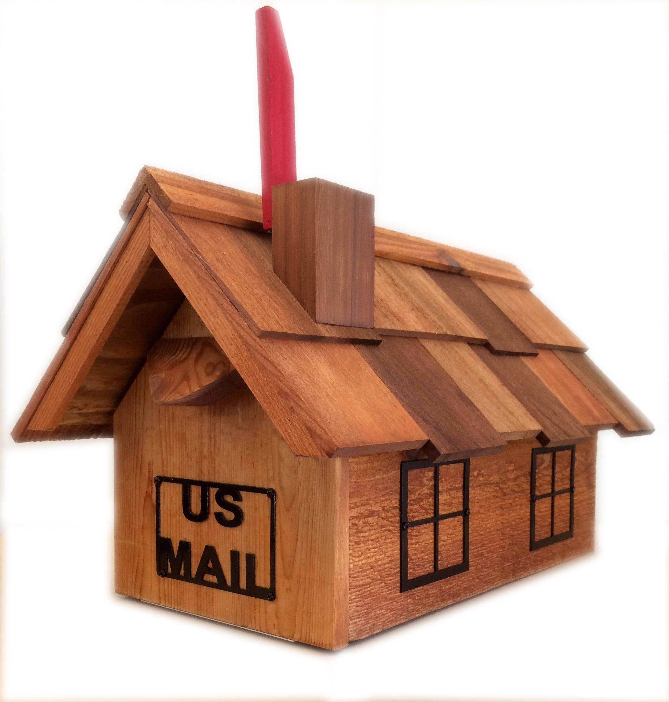 Buy Mb201m Cedar California Large Mailbox With Chimney