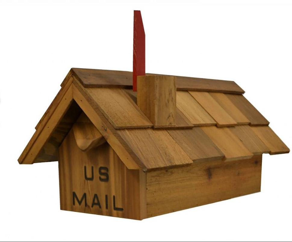Buy Cedar Mailboxes Mb200 Cedar Mailbox With Standard
