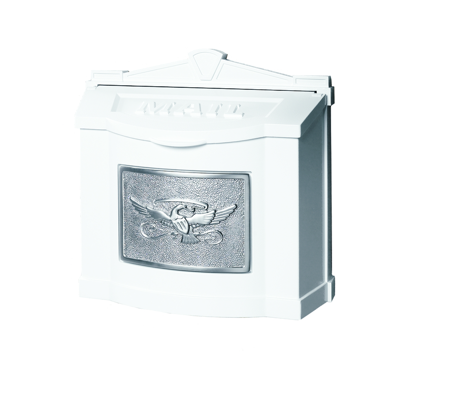 Buy Wm 7 Gaines Wall Mounted White With Nickel Mailbox