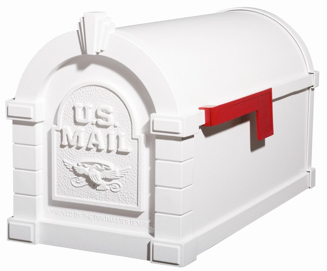 Buy Ks 15a Gaines Keystone Solid Door White Mailbox
