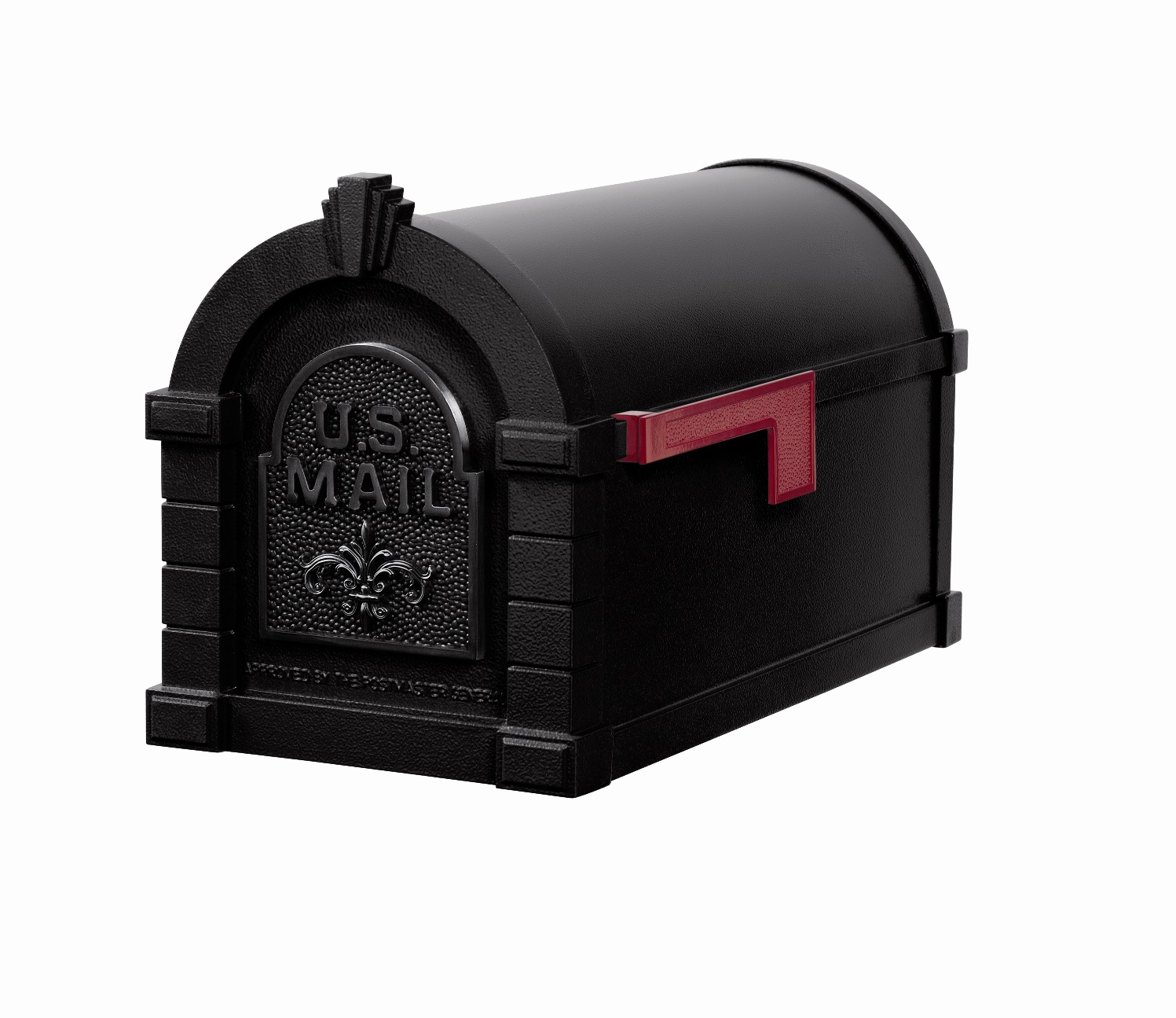 Buy Ks 19f Keystone Series Black With Black Plaque Mailbox