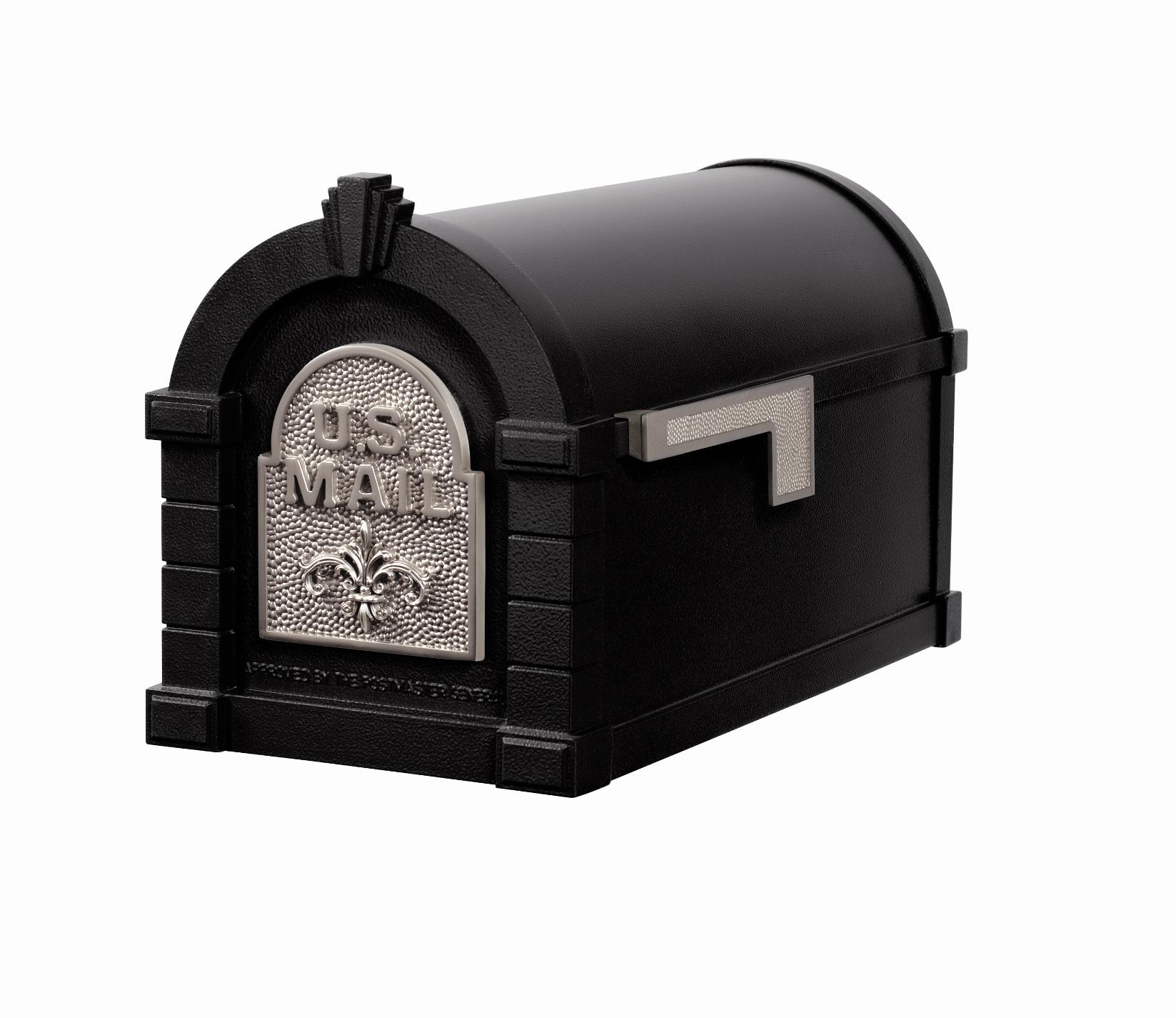 Buy Ks 25f Keystone Series Black With Satin Nickel Mailbox
