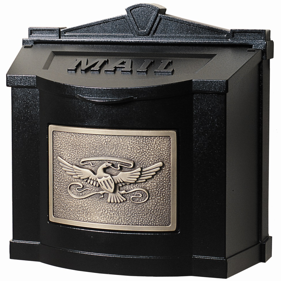 Buy Gaines Wm 6 Wallmount Black With Bronze Eagle Mailbox