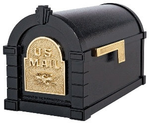 All Gaines Original Keystone Mailbox With Brass Accents