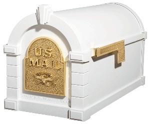Buy Ks 1a Gaines Keystone Mailbox White W Brass Gaines