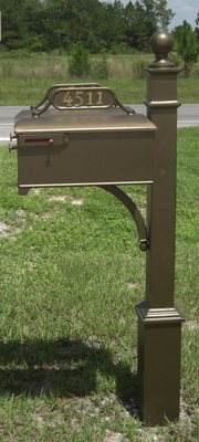 Estate Aluminum Mailbox And Post 631 Aluminum Mailboxes